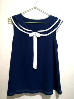 Sailor-inspired see thru blouse