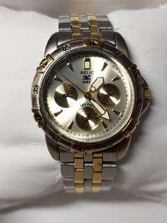 Relic by Fossil watch for Men - 2 tone Gold and silver watch