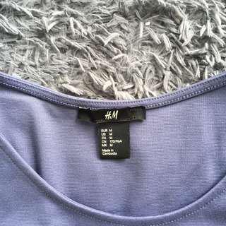 H&M Grey Sleeveless Mini Dress