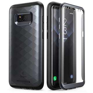 1774. Galaxy S8 Case, Clayco [Hera Series] [Updated Version] Full-body Rugged Case with Built-in Screen Protector for Samsung Galaxy S8 (2017 Release) (Black)