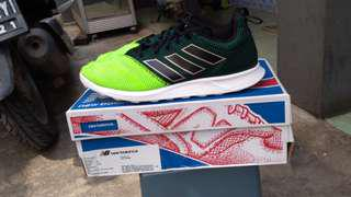 Adidas 17.4 Running Green Original Size 42 Preloved Rare