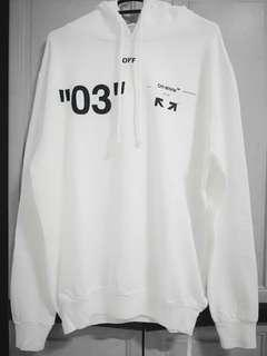 Off white for all hoodie