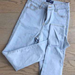 American Apparel high waisted light jeans