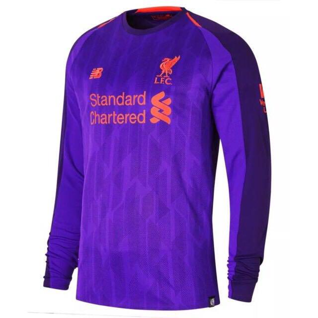 differently b5d28 edda1 18/19 Liverpool Men Long Sleeve Away Kit Jersey, Sports ...