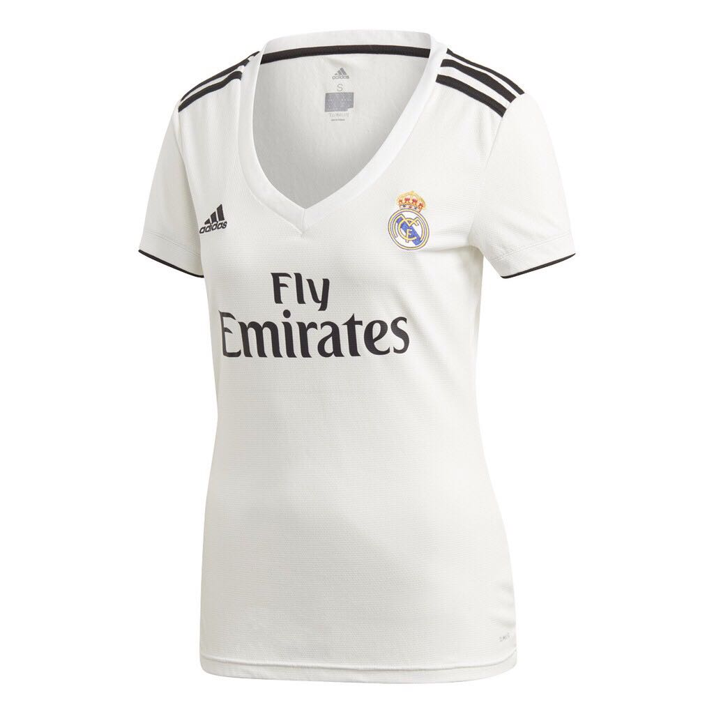 18 19 Real Madrid Women and Kids Home Kit Jersey 52e76bd1c