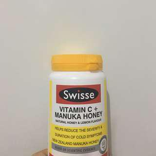 🇦🇺澳洲代购 Swisse Vitamin C + Manuka honey (120tablets)