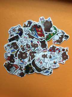 CONY and BROWN LINE stickers