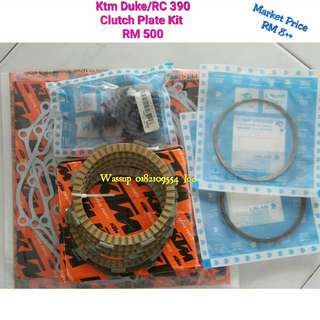 Original Ktm Duke RC 250 & 390 Clutch Plate Kit with Gasket RM500 shja