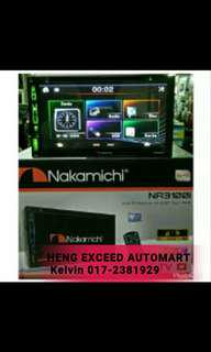 Nakamichi Double Din DVD USB Bluetooth Player