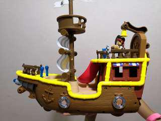 Pirate ship with sound and action buttons