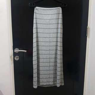 Cotton On Grey Striped Maxi Skirt