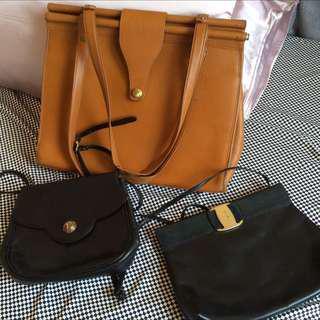 e6cc4c9f5c Coach XL Camel Leather Bag . YSL Purse SOLD . Salvatore Ferragamo Leather  Clutch All