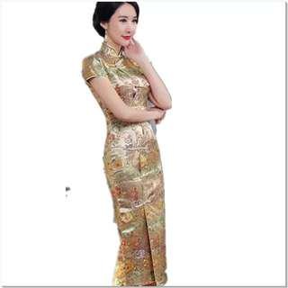Gold Color Cheong Sam