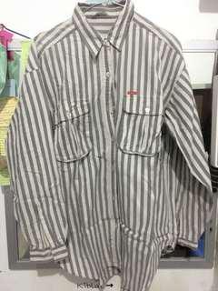Stripes tunik grey abu oversize