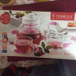 $44.99 💯%NEW 全新 Glass Of Tea Set (Teapot ➕2 Cups)*只葵芳地鐵站交收*