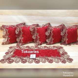 Sarung bantal sofa premium / sarung bantal sofa shabby