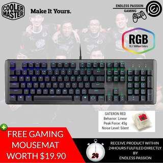 Cooler Master CK550 RGB Mechanical Gaming Keyboard - Gateron Switches