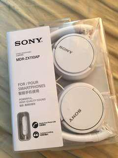 Sony MDR-ZX110AP Headphone Ear-on White (Brand New, Never Opened)