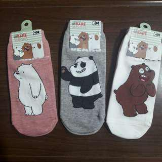 We Bare Bears Socks