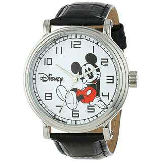 Men's Watch Disney Mickey Mouse Leather Black W000531