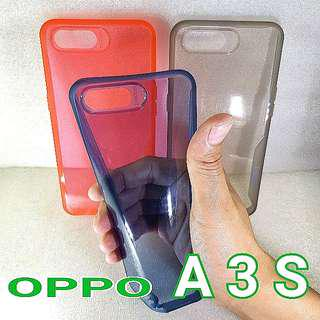 OPPP A3S Clear TPU Soft Protector Cover Phone Case
