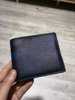 Coach camo wallet in blue