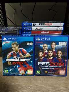Winning Eleven Pro Evolution Soccer 2018 & 2015 (PES)
