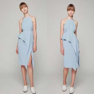 bf962745d0 BNWT Collate the Label Front Slit Peplum Dress