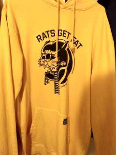 Rats Get Fat Yellow Hoodie