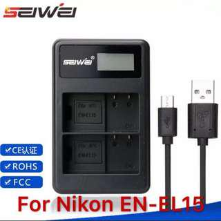 Nikon En-el15 battery charger (3rd party)