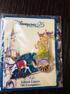 Disneyland Resort Paris pin 法國巴黎迪士尼徽章襟章 DLP 25th anniversary Disney star on parade - belle貝兒 le700 disney pin