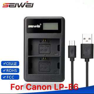 Canon EP-L6 battery charger(3rd party)