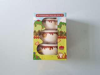 Pompompurin Microwavable Bowl Set