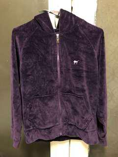 Purple Velour tracksuit hoody - 8