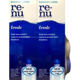 Renu Fresh Twin Pack 120ml free lens case