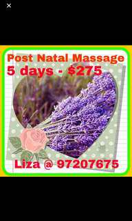 A post natal massage