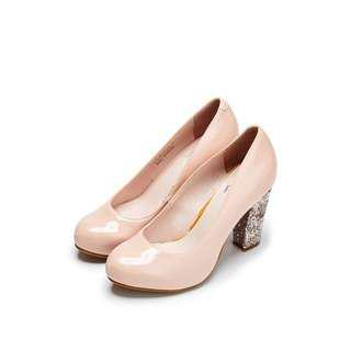 *New* Pink Beige Shinny Trendy High Heels 🎁🎀<Ready to Let Go>