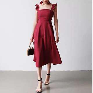🚚 歐美荷葉邊洋裝