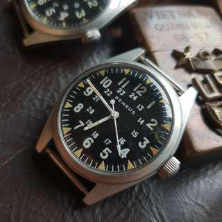 (preowned) BENRUS 34mm vintage military Vietnam watch