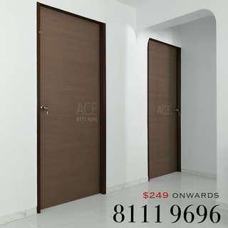 VENEER BEDROOM DOOR for BTO, Resale HDB or CONDO