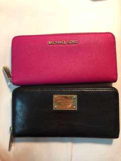 Authentic Michael Kors Saffiano Jet Set Long wallet