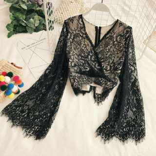 Lace Dream Flare Sleeve Top