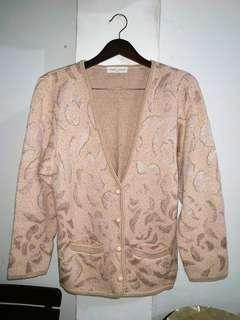 Cardigan Tebal Pink Import Italy