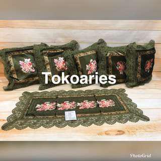 Sarung bantal shabby /sarung bantal sofa murah / SBK SET