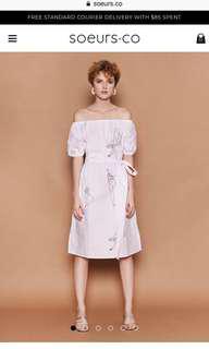 🚚 BNWT Soeurs Off Shoulder Doodle Dress
