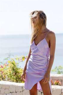BNWT Maurie and Eve summer slip dress nite cap purple lavender colour pastel size 6