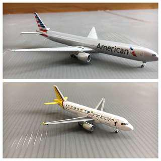 Herpa x2 bundle (American airlines 777 and Germanwings A320)