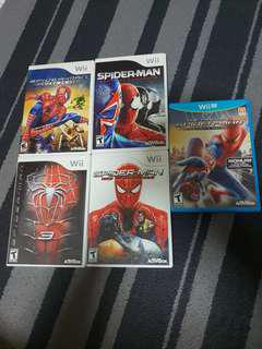 PRELOVED WII AND WII U SPIDERMAN COLLECTIONS