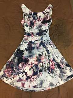 Bare Back Floral Dress