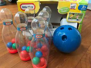 Little Tikes Clearly Bowling play set
